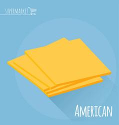 american cheese icon vector image vector image