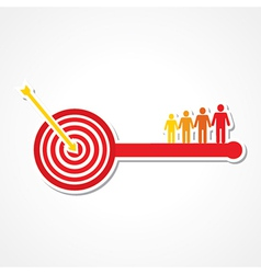 Archery board make key with people vector
