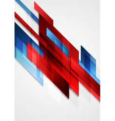 Blue and red hi-tech motion design vector image vector image