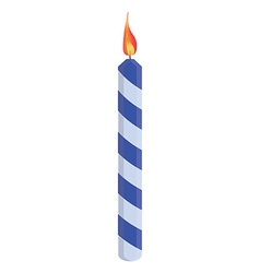 Blue birthday candle vector image