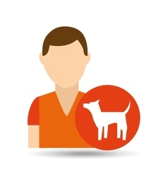 character pet training dog icon vector image