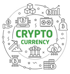 Circle bitcoin crypto innovations vector