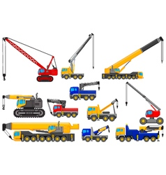 collection of Lifting crane for you design vector image