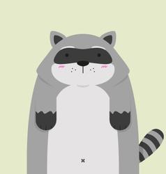 cute big fat Raccoon vector image vector image