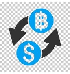 Dollar baht exchange icon vector