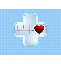 ECG Electrocardiogram EPS 8 vector image vector image