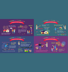 Fireworks safety infographic comparative poster vector