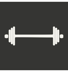 Flat in black and white mobile application barbell vector