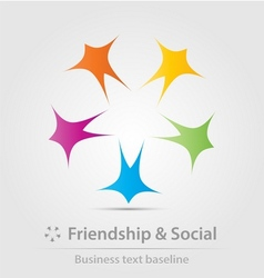 Friendship and social business icon vector image vector image