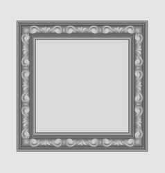Gray square frame vector