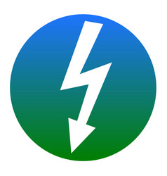 high voltage danger sign white icon in vector image