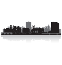 Limerick city skyline silhouette vector image