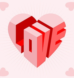 Love heart card vector