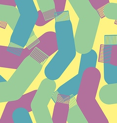 Military socks texture Camouflage army seamless vector image