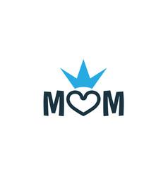Mum colorful icon symbol premium quality isolated vector