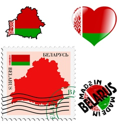 National colours of belarus vector