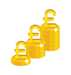 pound growing stacks vector image vector image