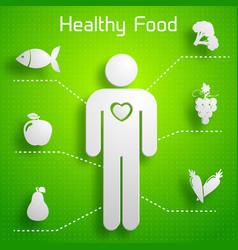 Proper nutrition infographics vector