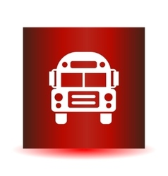 School bus icon solid vector
