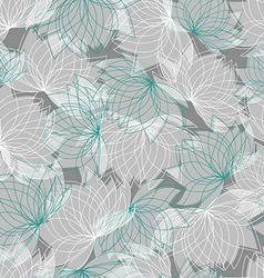 Seamless floral pattern with lotus vector image