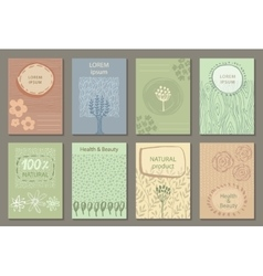 set of eco nature labels or business card vector image vector image