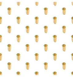 Shawarma pattern cartoon style vector