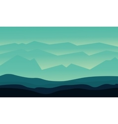 Silhouette of hills flat vector