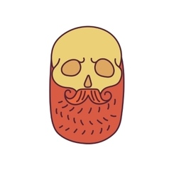 Skull with Hipster mustache and beards vector image
