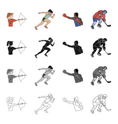 Sports competition girl and other web icon in vector