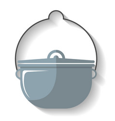 tourist cauldron icon isolated vector image