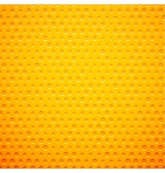 Yellow metal or plastic texture with holes vector image vector image