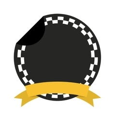 Taxi frame ribbon emblem icon vector