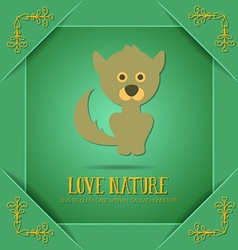 With nature and animal vector