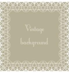 Vintage background frame vector image