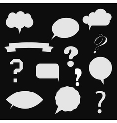 question mark in colorful vector image