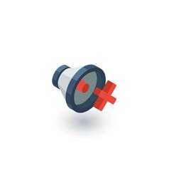 Speaker mute isometric flat icon 3d vector