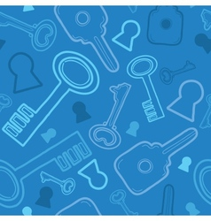 Blue keys seamless pattern background vector