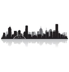 Melbourne Australia city skyline silhouette vector image
