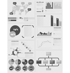 Infographic demographics 5 grey vector