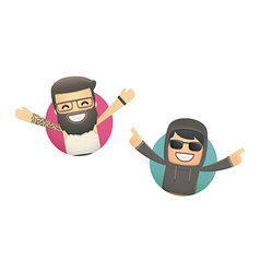 Avatars with funny guys vector