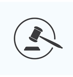 Judge gavel vector