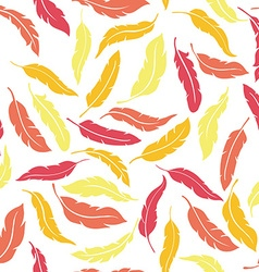 Colorful seamless feathers pattern vector