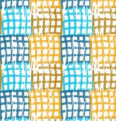 Rough brush blue and brown checkered squares vector
