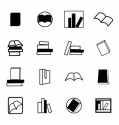 books icon set vector image