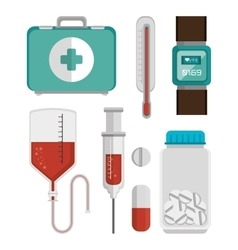 Mobile health design vector