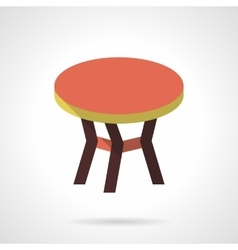 Color round table flat design icon vector