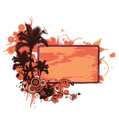 grunge summer floral frame vector image