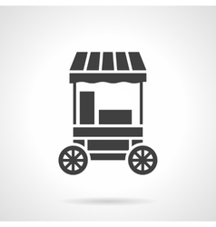 Cotton candy cart glyph style icon vector