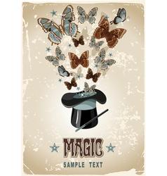 Magicians hat vector image