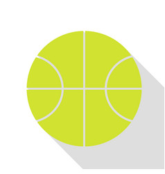 Basketball ball sign pear icon with vector